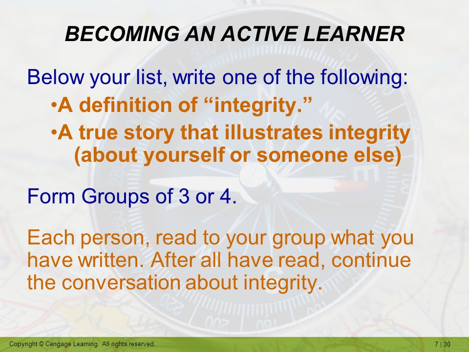 BECOMING AN ACTIVE LEARNER