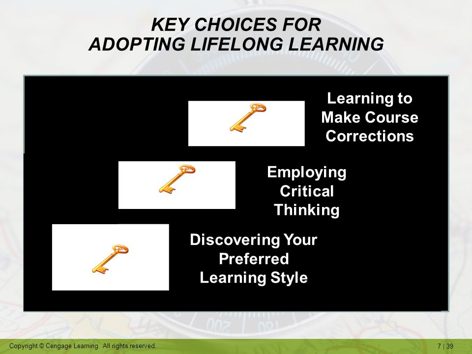 KEY CHOICES FOR ADOPTING LIFELONG LEARNING