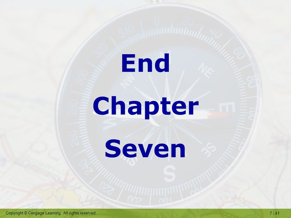 End Chapter Seven