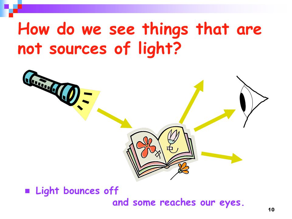 How do we see things that are not sources of light