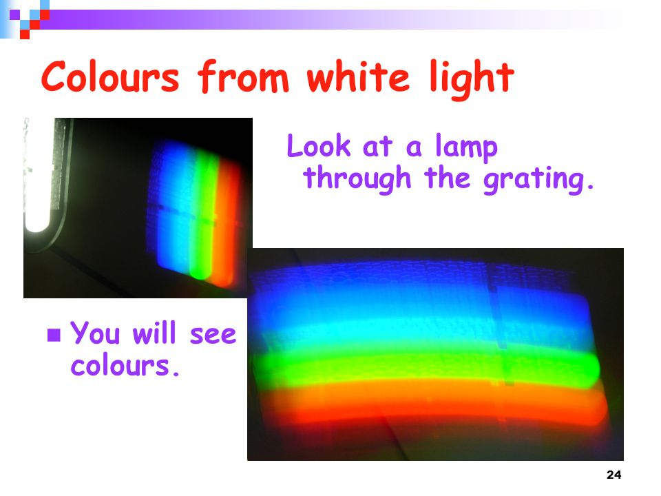 Colours from white light