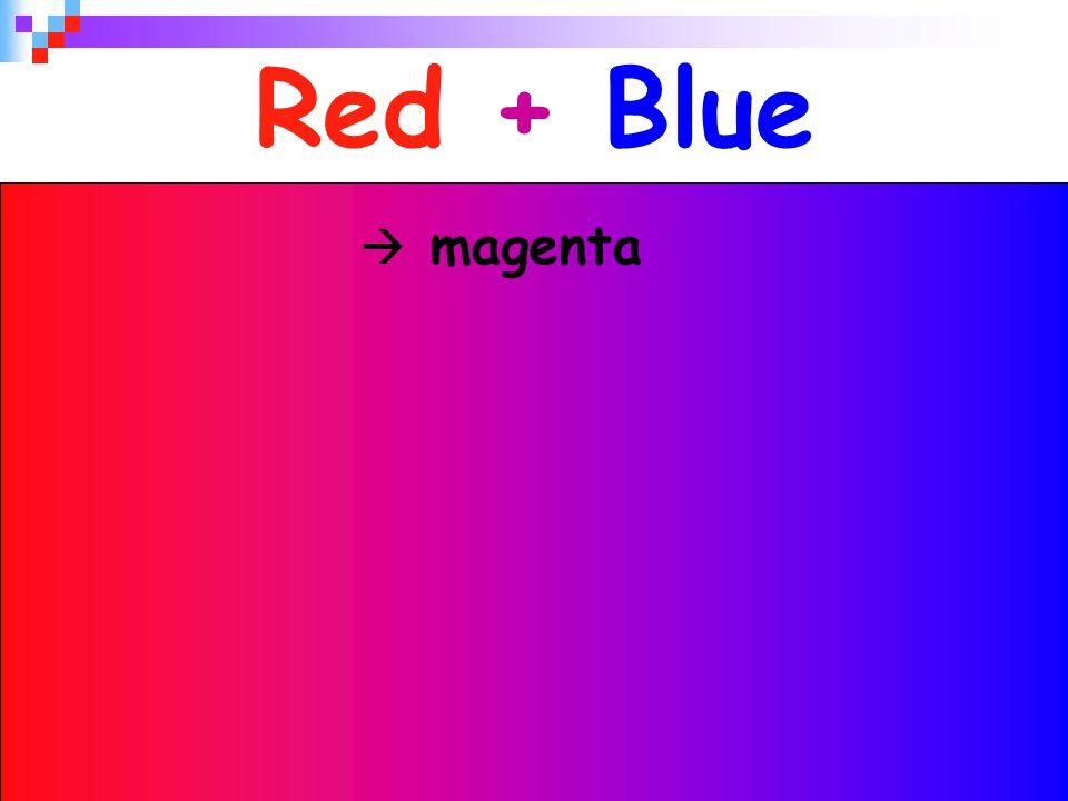Red + Blue  magenta