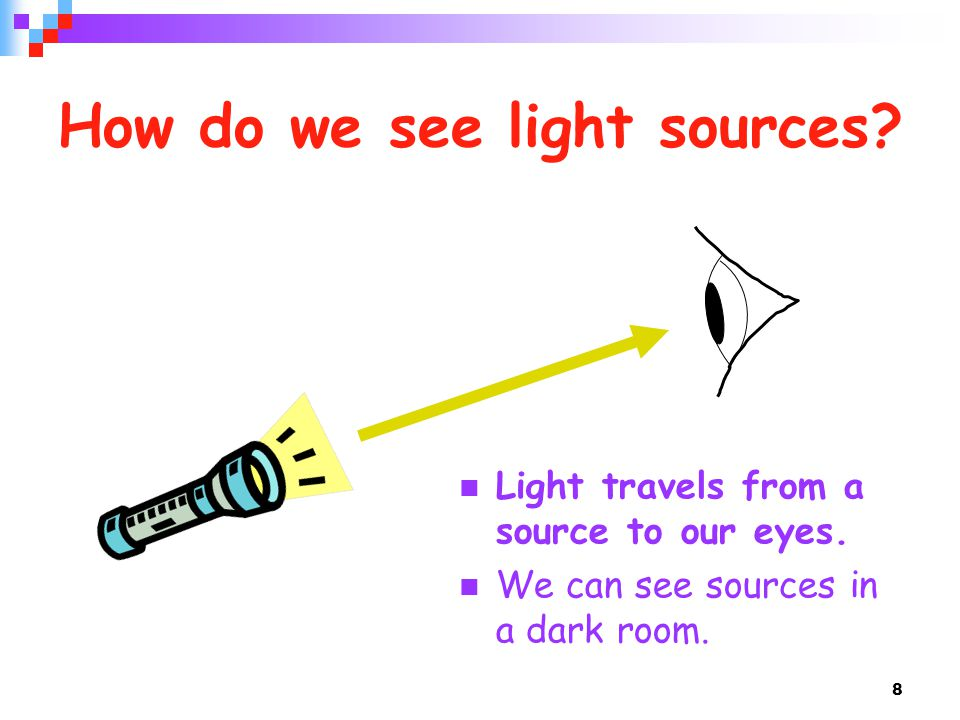 How do we see light sources