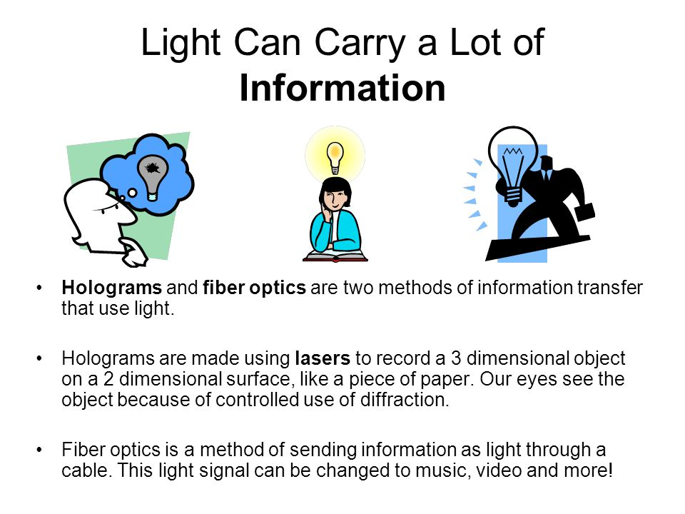 Light Can Carry a Lot of Information