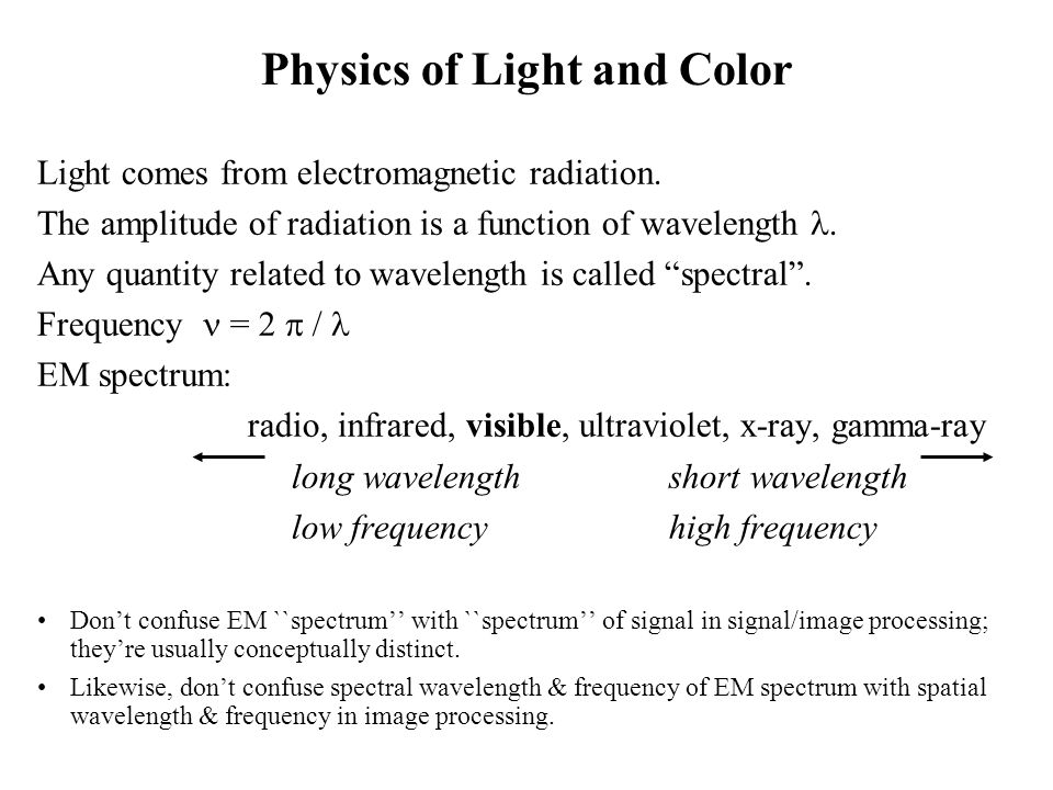 Physics of Light and Color