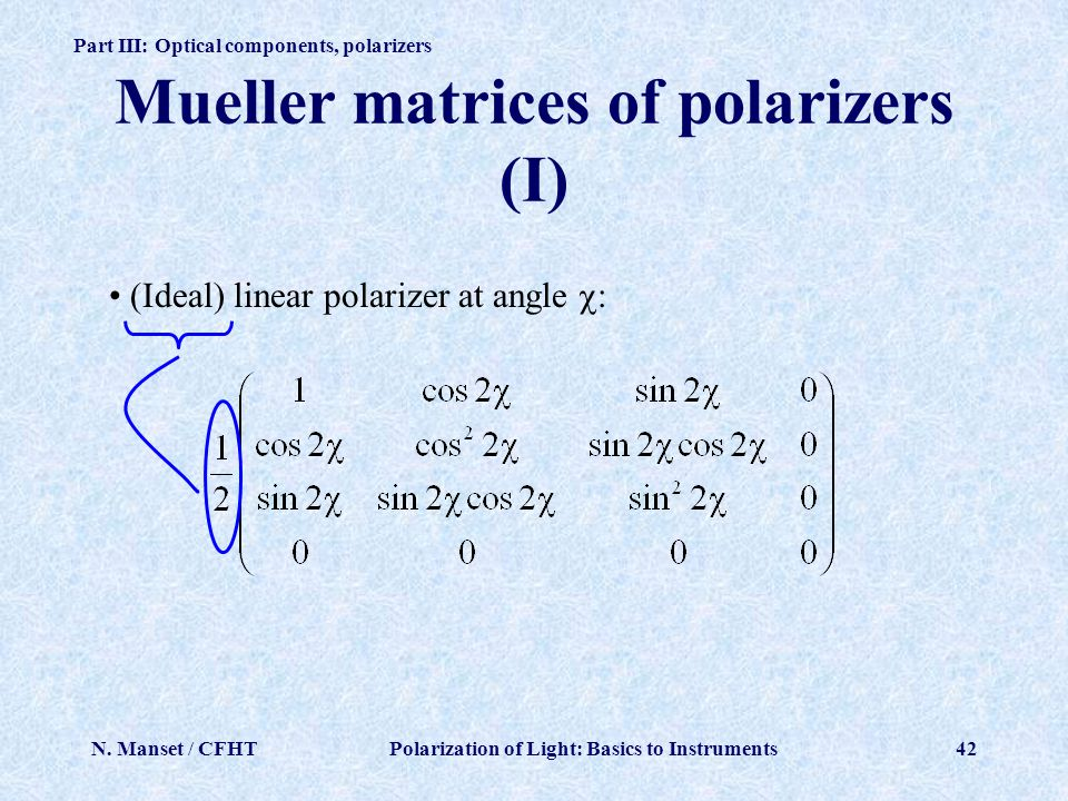 Mueller matrices of polarizers (I)