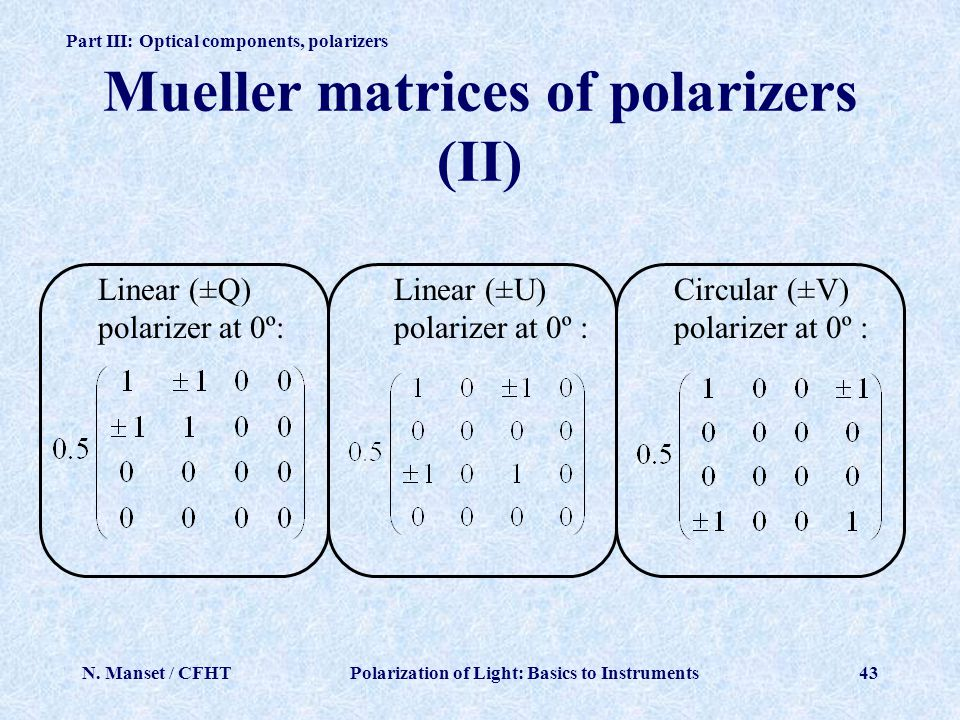 Mueller matrices of polarizers (II)