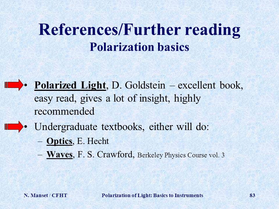 References/Further reading Polarization basics