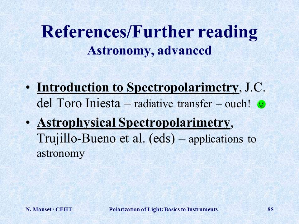 References/Further reading Astronomy, advanced