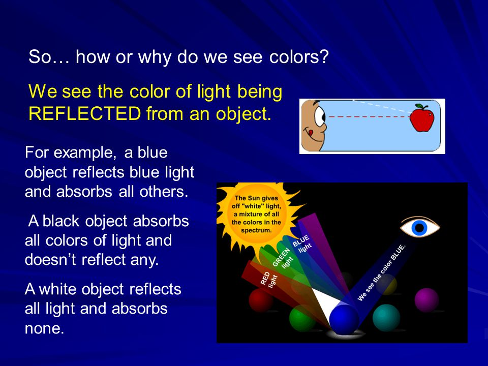 So… how or why do we see colors
