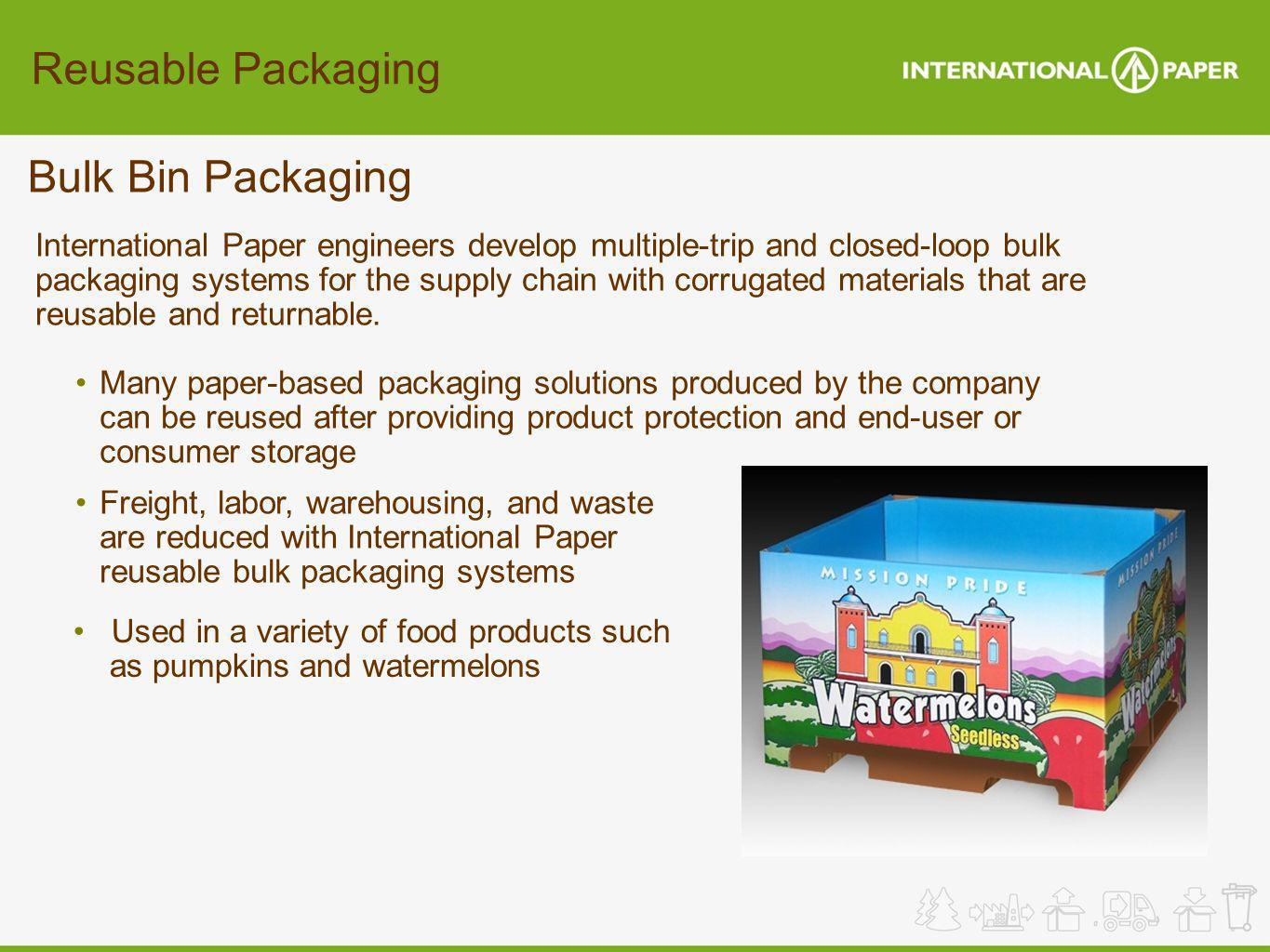 Reusable Packaging Bulk Bin Packaging