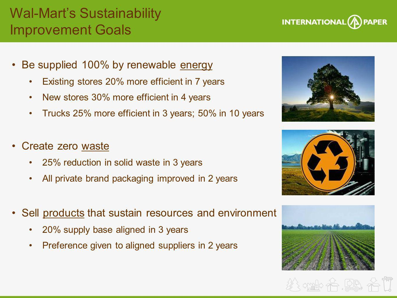 Wal-Mart's Sustainability Improvement Goals