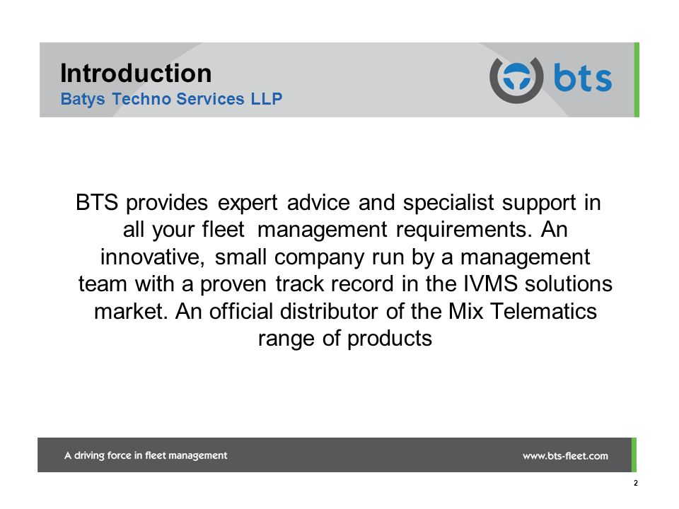 Introduction Batys Techno Services LLP