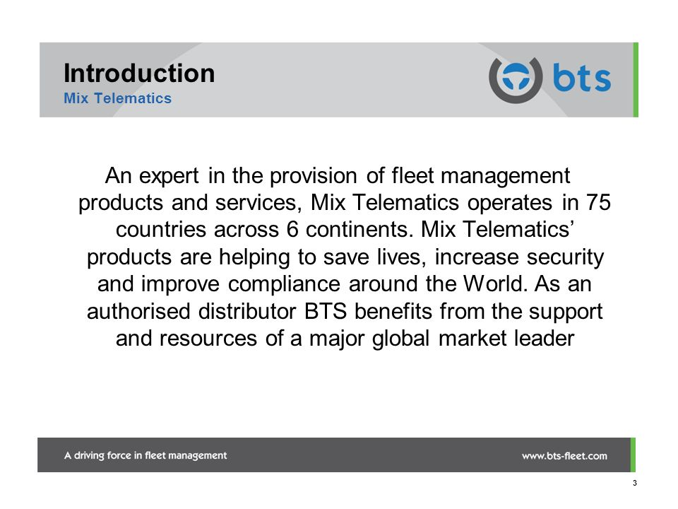 Introduction Mix Telematics