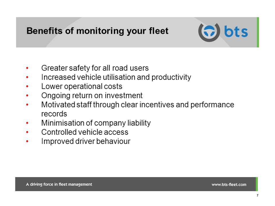 Benefits of monitoring your fleet