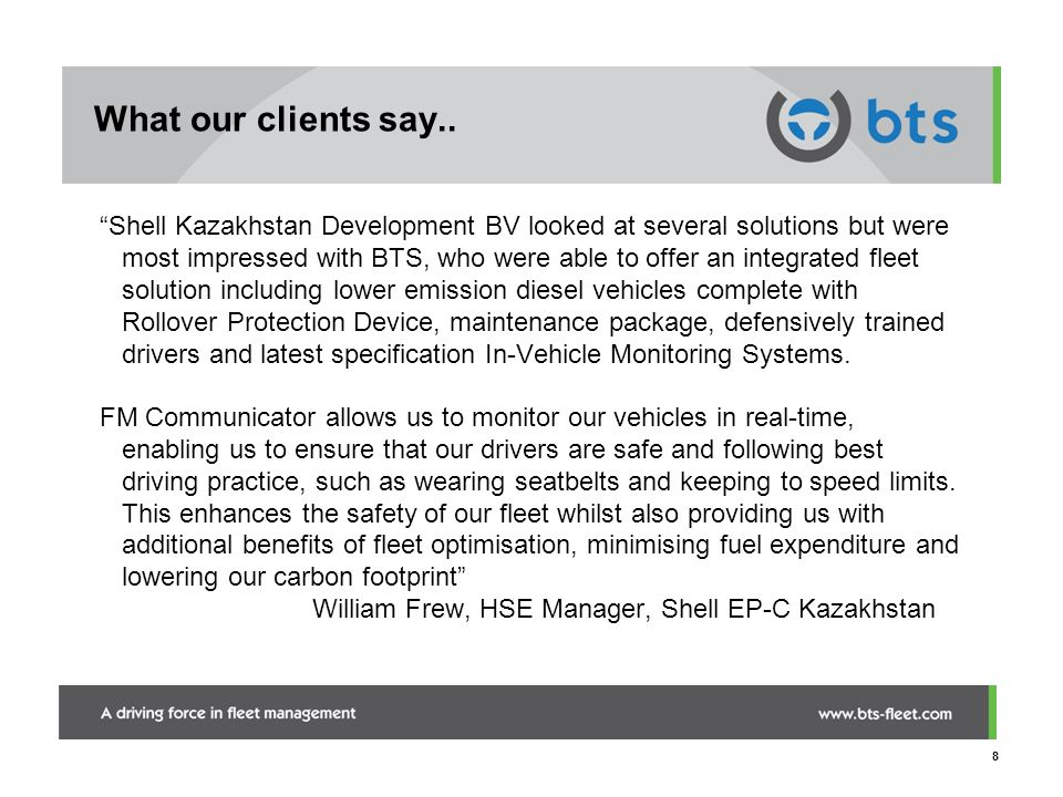 What our clients say..