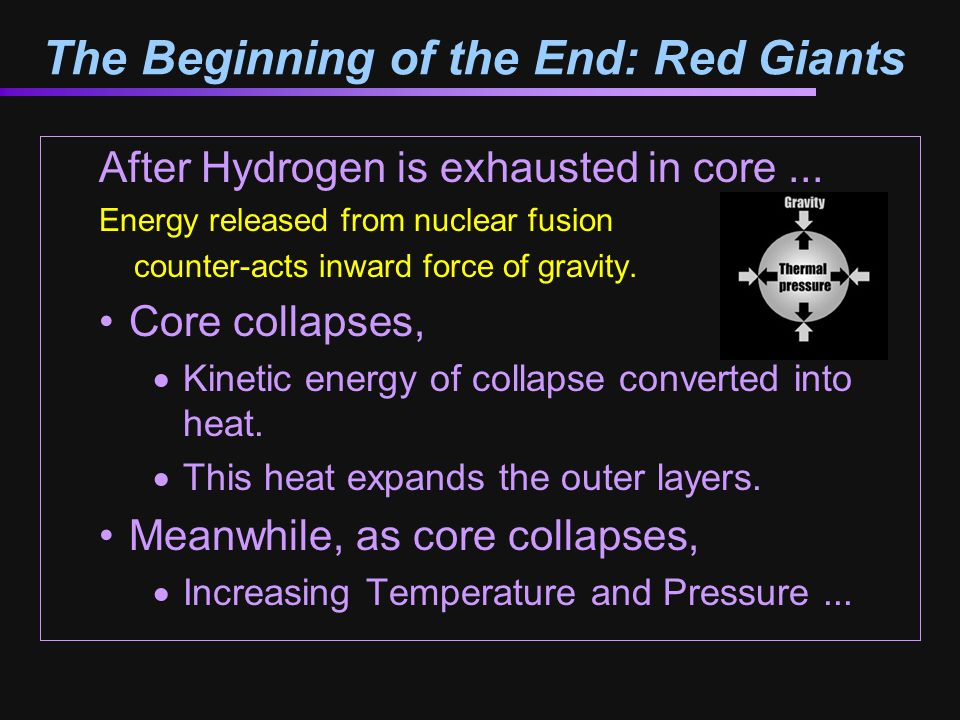 The Beginning of the End: Red Giants