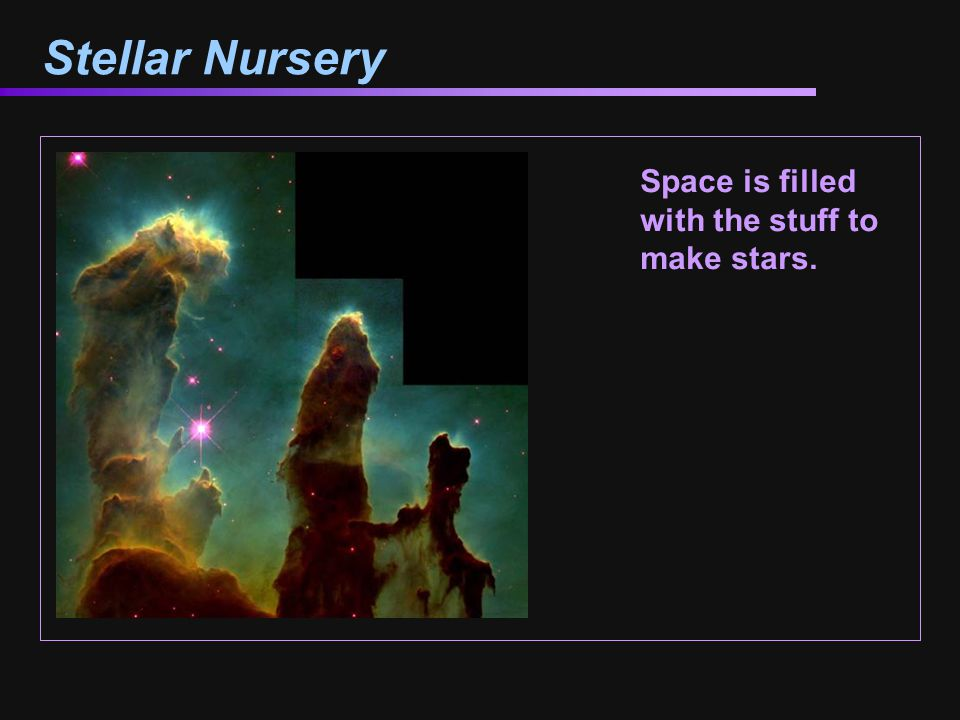 Stellar Nursery Space is filled with the stuff to make stars.