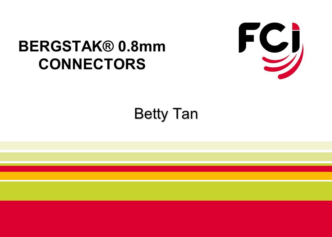BERGSTAK® 0.8mm CONNECTORS