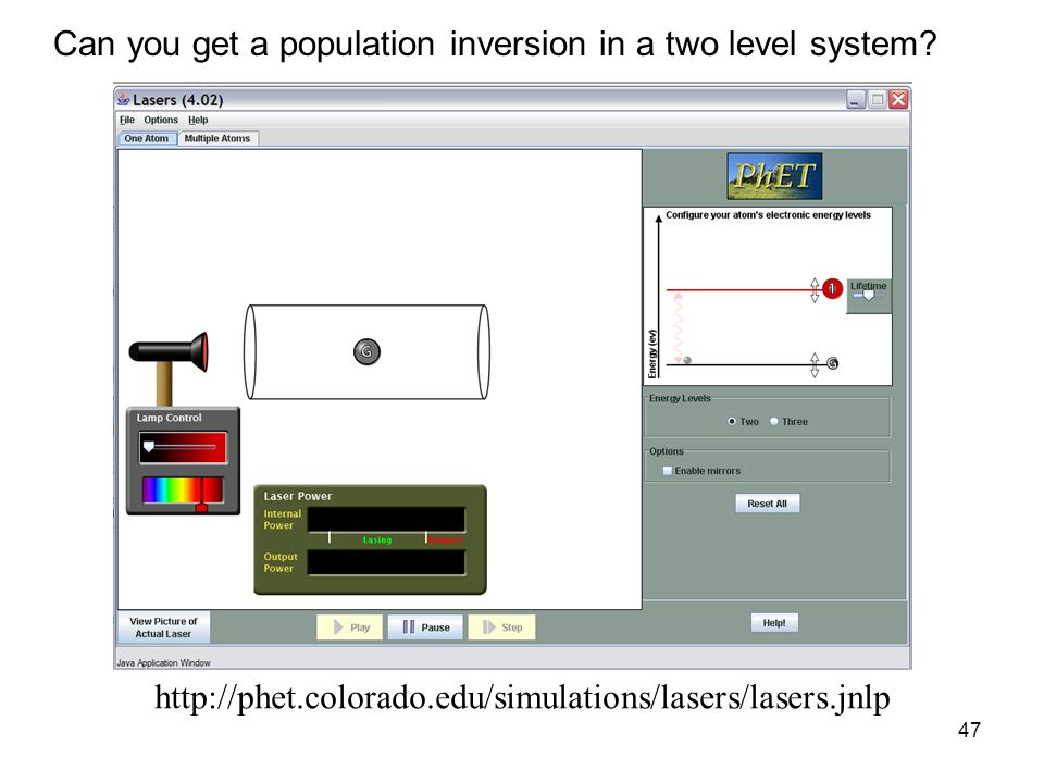Can you get a population inversion in a two level system