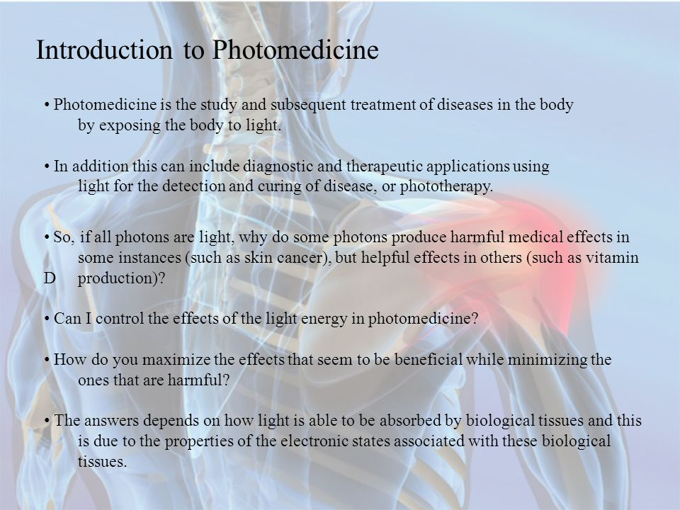 Introduction to Photomedicine