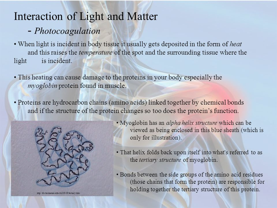 Interaction of Light and Matter - Photocoagulation
