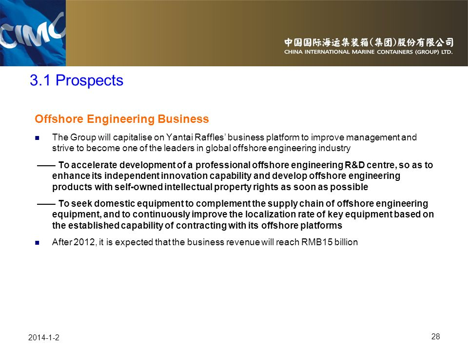 3.1 Prospects Offshore Engineering Business