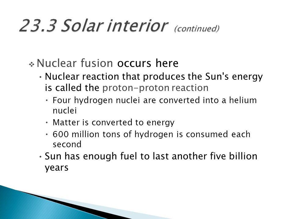 23.3 Solar interior (continued)
