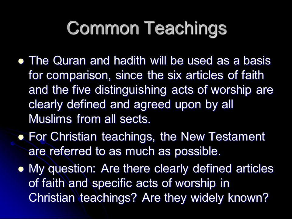 Common Teachings