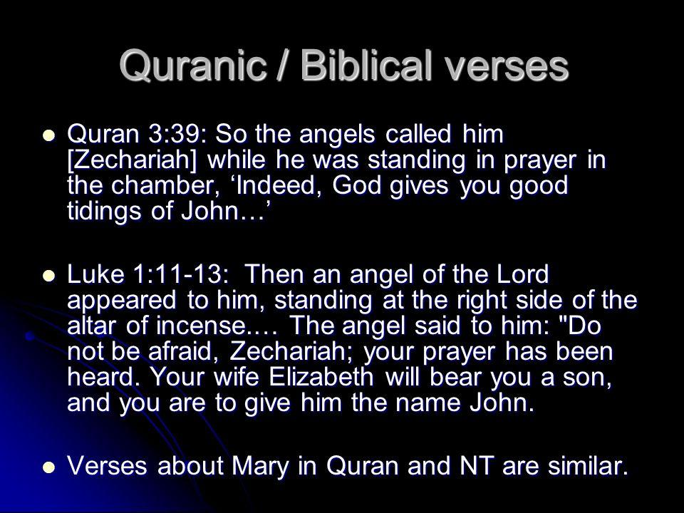 Quranic / Biblical verses