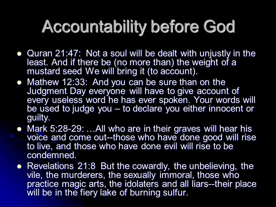 Accountability before God