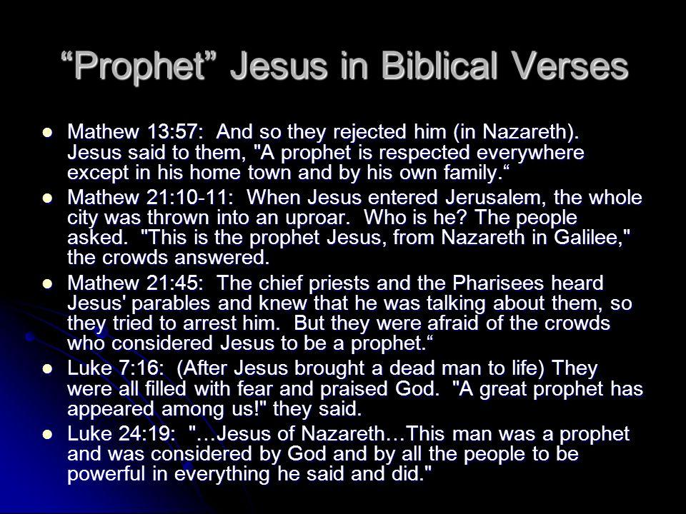 Prophet Jesus in Biblical Verses