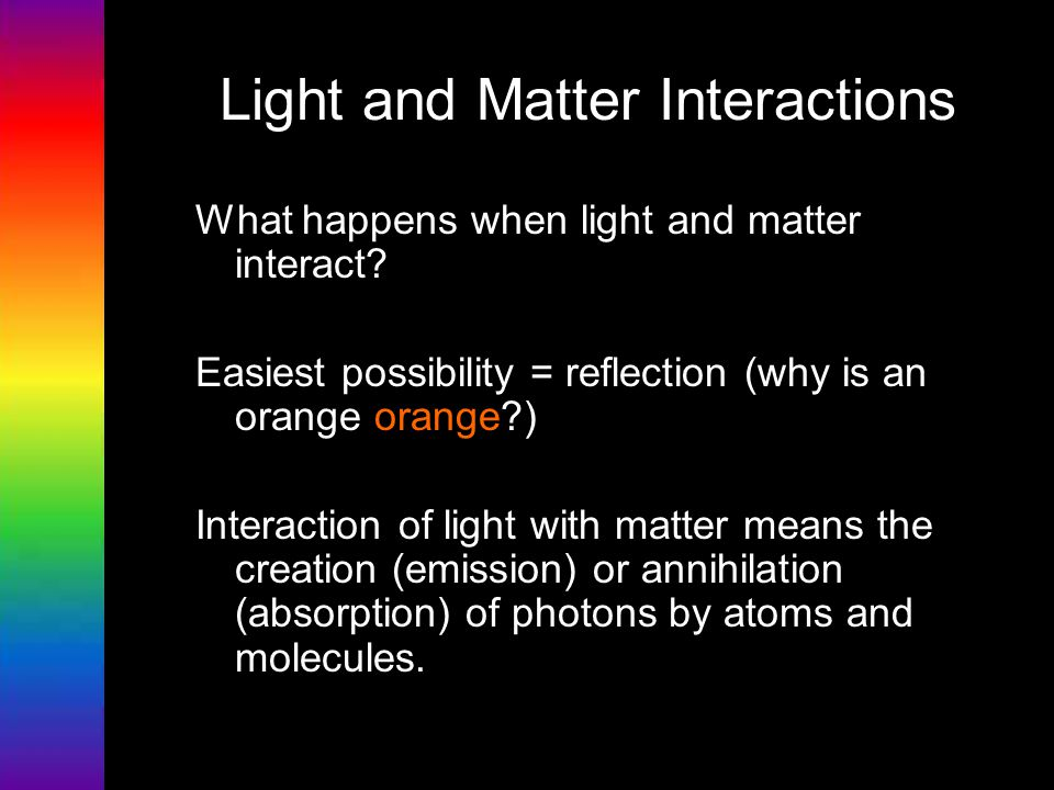 Light and Matter Interactions