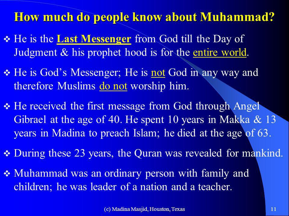 How much do people know about Muhammad