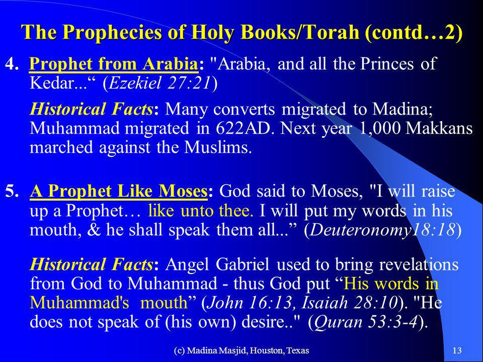 The Prophecies of Holy Books/Torah (contd…2)