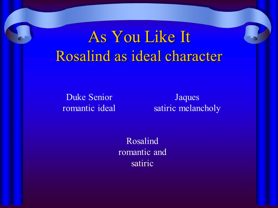 As You Like It Rosalind as ideal character