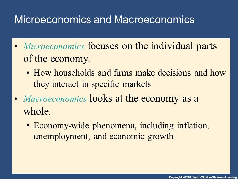 Microeconomics and Macroeconomics