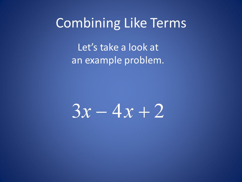 Let's take a look at an example problem.