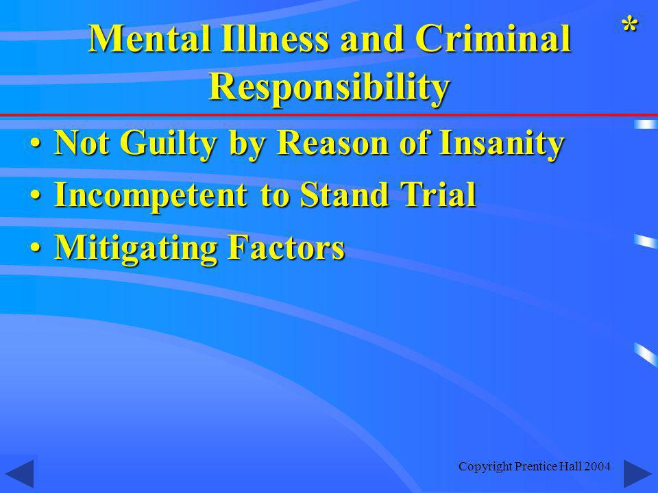 Mental Illness and Criminal Responsibility