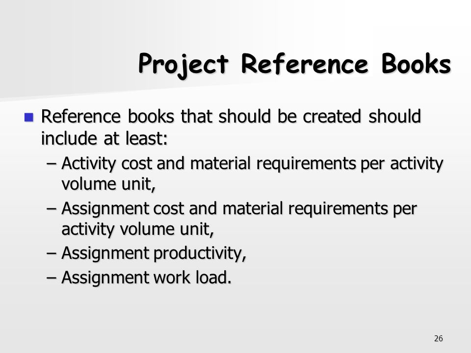 Project Reference Books