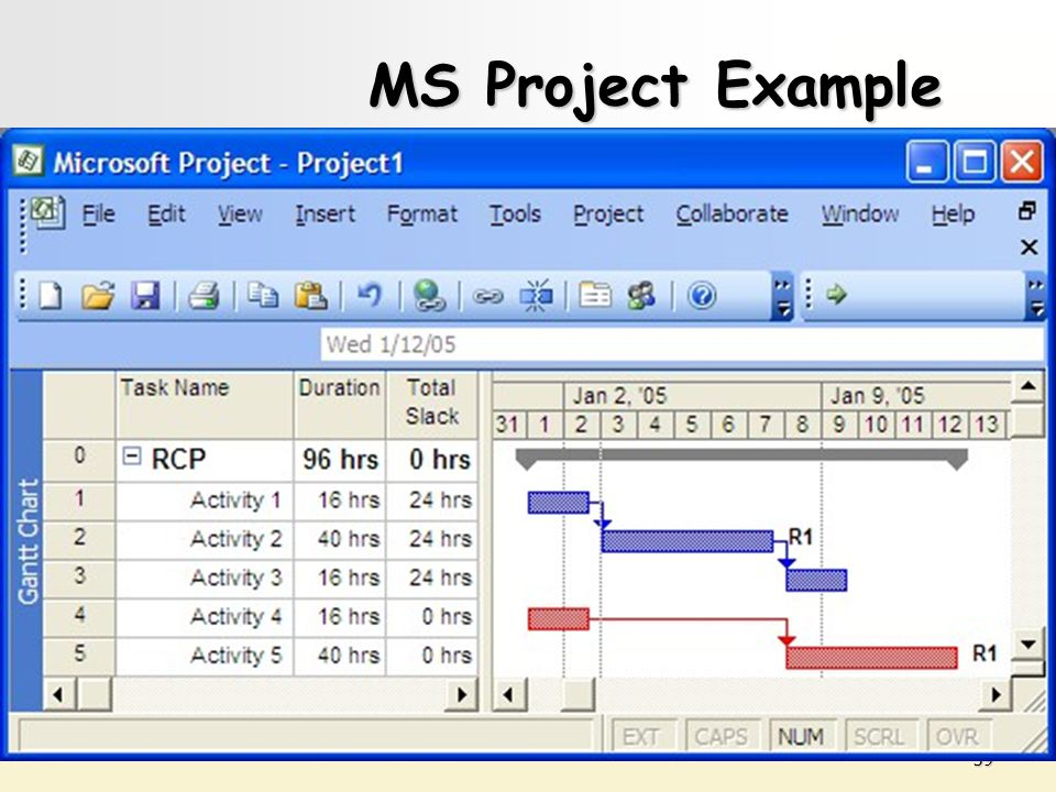MS Project Example