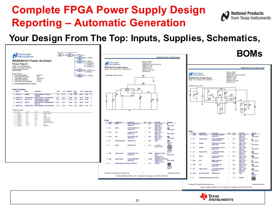 Complete FPGA Power Supply Design Reporting – Automatic Generation