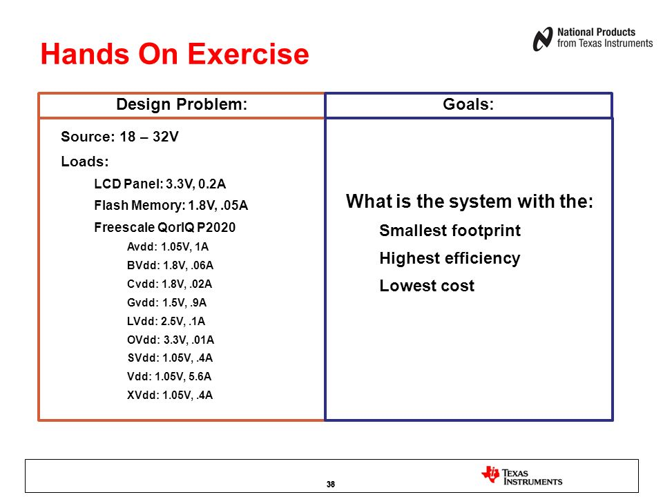 Hands On Exercise What is the system with the: Design Problem: Goals: