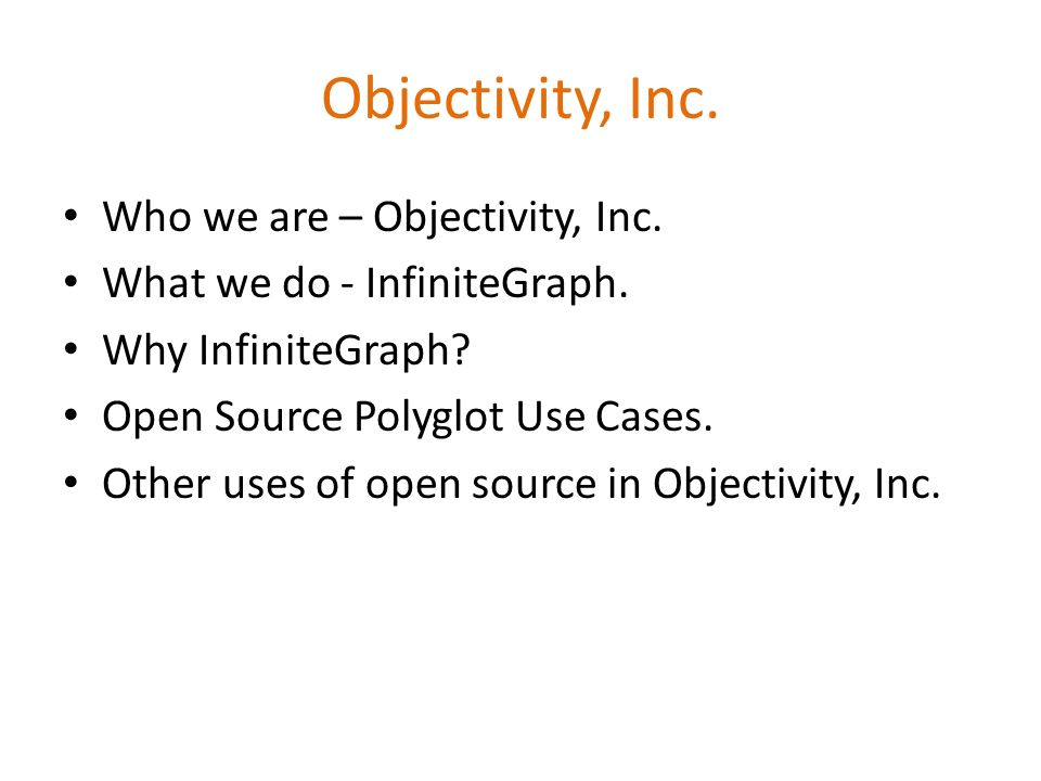Objectivity, Inc. Who we are – Objectivity, Inc.