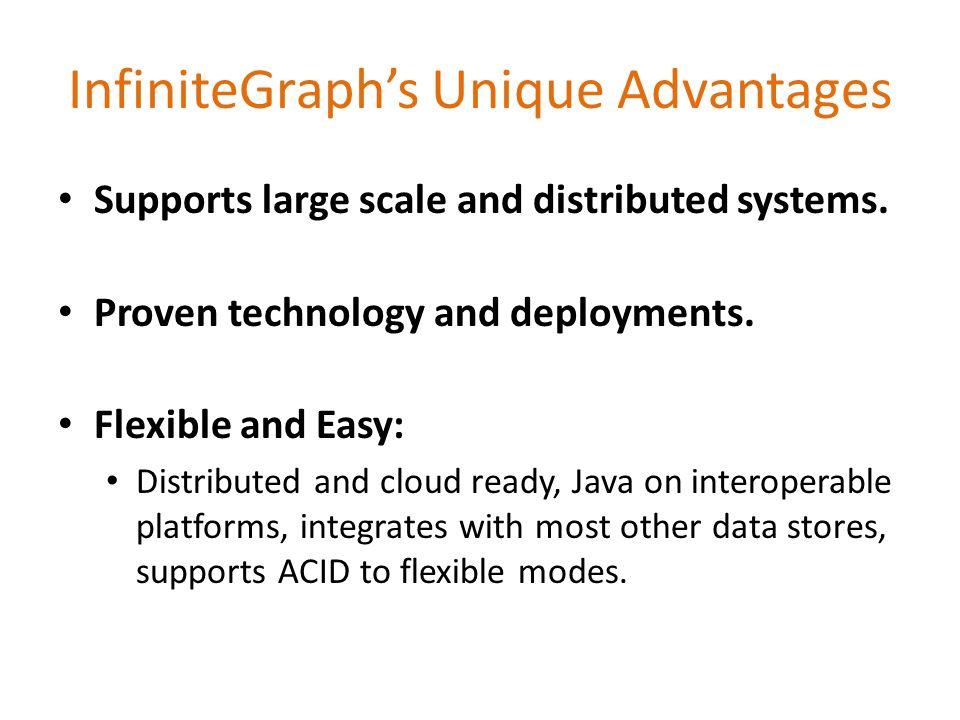 InfiniteGraph's Unique Advantages