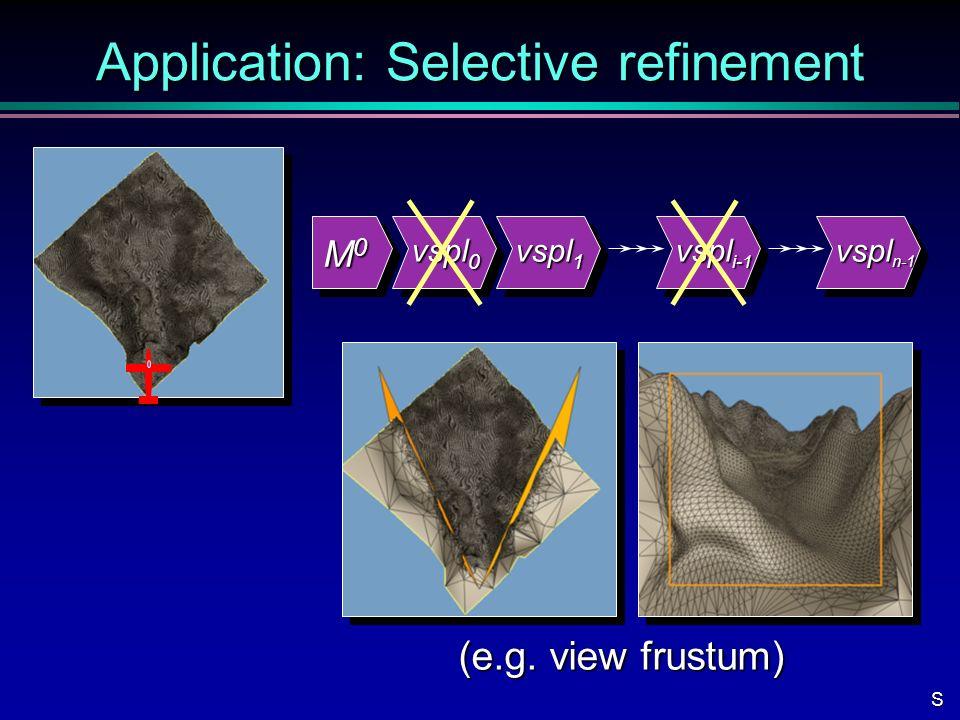 Application: Selective refinement