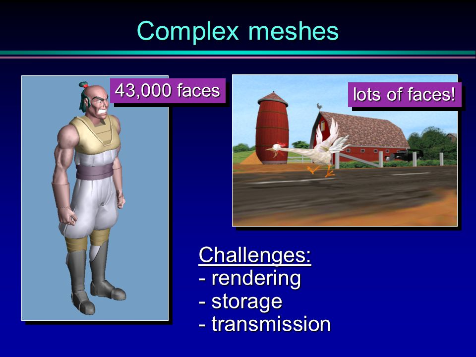 Hugues Hoppe - SIGGRAPH 96 - Progressive Meshes