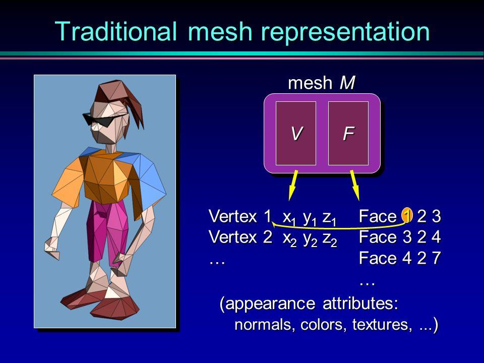 Traditional mesh representation