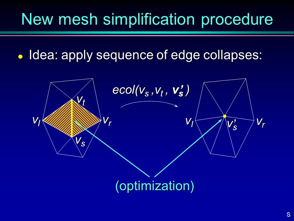 New mesh simplification procedure