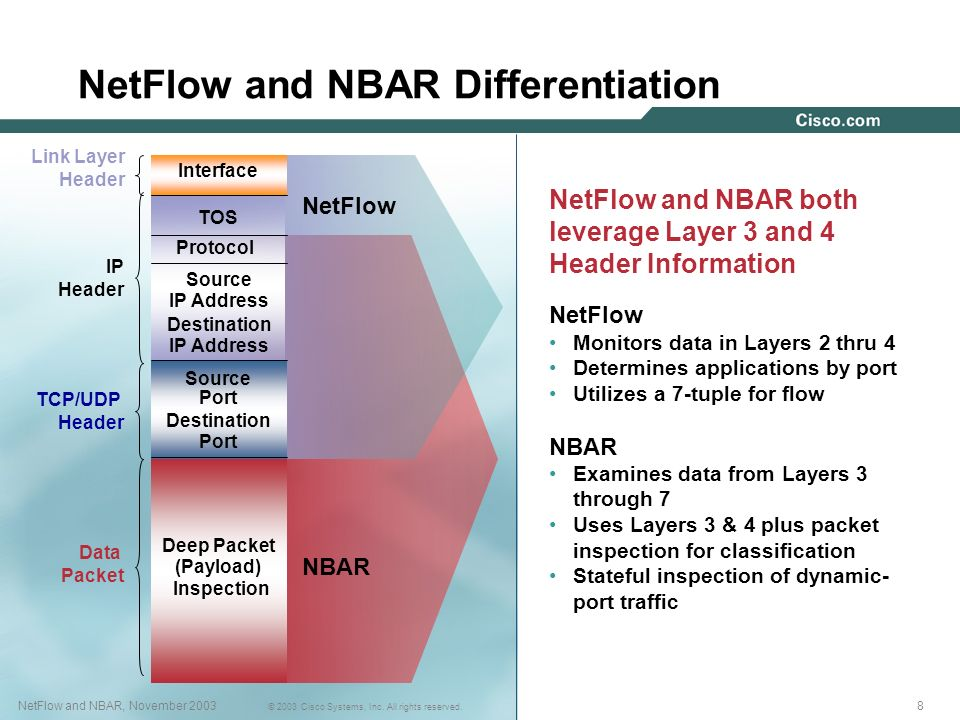 NetFlow and NBAR Differentiation